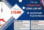 Học bổng trung học công lập Mỹ chỉ $9,890