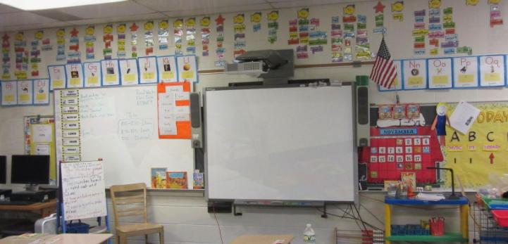 Một phòng học tại học khu Red Creek Central